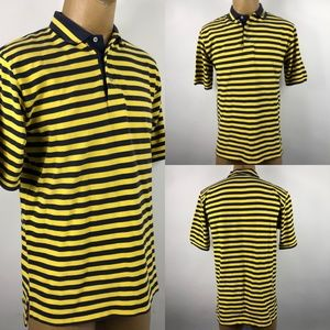 Polo Golf Ralph Lauren Yellow Striped Mens Polo S